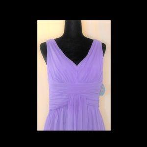 Purple Chiffon Suzi Chin Cocktail Dress
